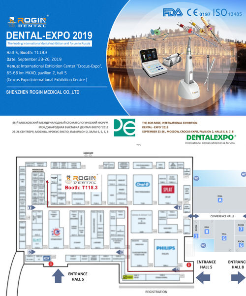 ROGIN Dental, Dental-Expo 2019'da Moskova'da